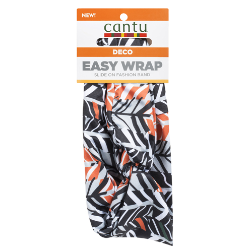 hair wrap with orange and black floral print